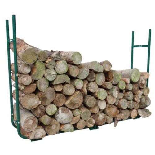 Toolland brennholzhalter 150 220 x 21 30 cm Stahl grün