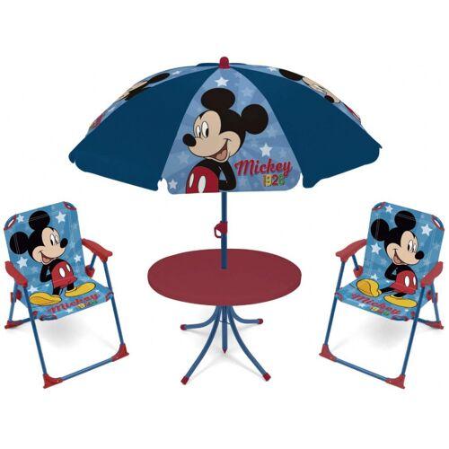 Disney gartenset mit Sonnenschirm Mickey Mouse blau 4 teilig