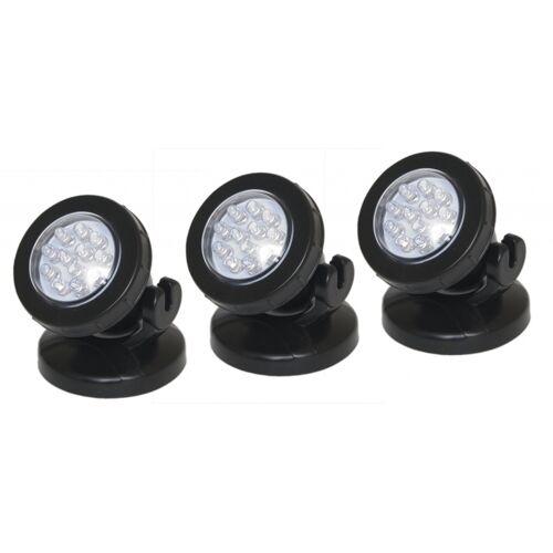 Velda teichbeleuchtung LED schwarz 8,5 x 3 cm 3 Stück