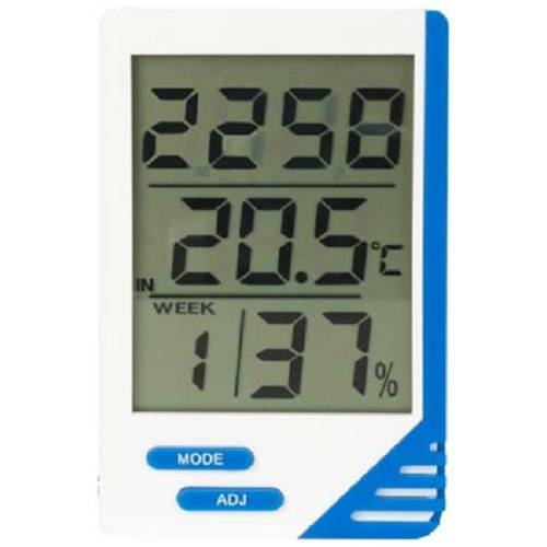 Velleman thermometer/Hygrometer digital 5,8 x 9 cm ABS weiß