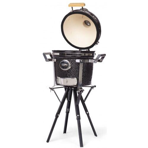 Yakiniku holzkohlegrill 13 Zoll Keramik/RVS schwarz