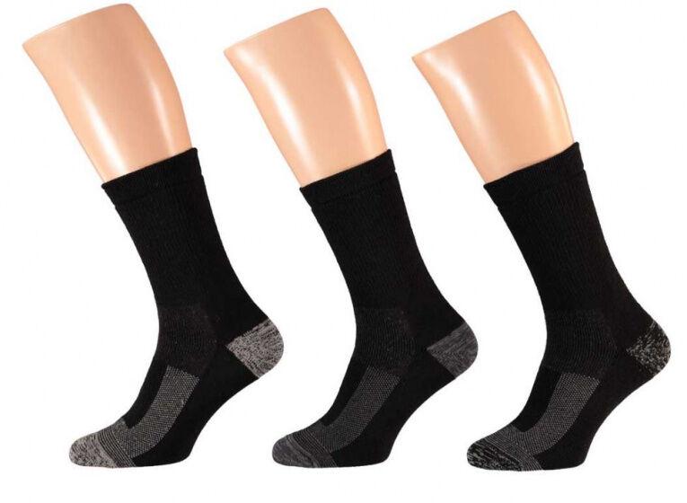 Apollo arbeitssocken Thermo Polyester schwarz 3 Paar Größe 39 42