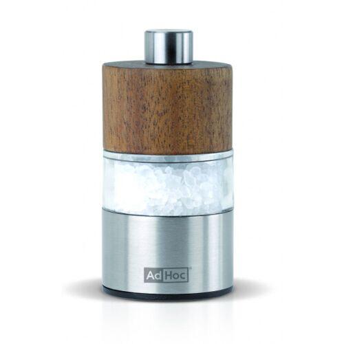 Adhoc salz  und Pfeffermühle David 6,2 x 3,2 cm aus Edelstahl natur