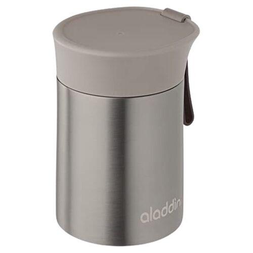 Aladdin brotdose Enjoy ThermavacEdelstahl/Silikone 400 ml Silber