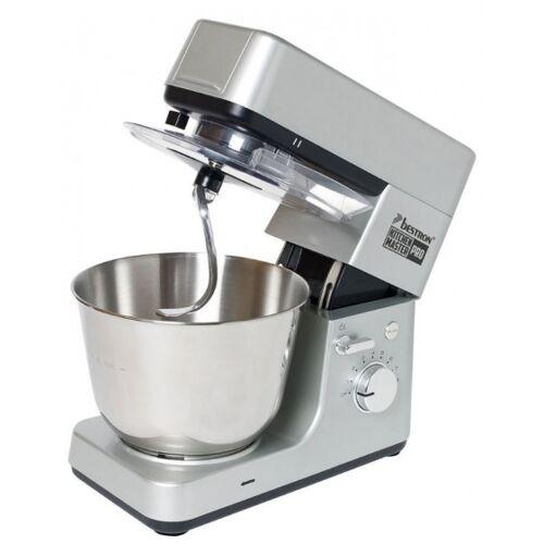 Bestron küchenmaschine 4 in 1 1200W 38,5 cm Edelstahl silber