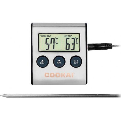 Cookai digitales Kerntemperaturmessgerät 6 x 7 cm Edelstahl/ABS grau