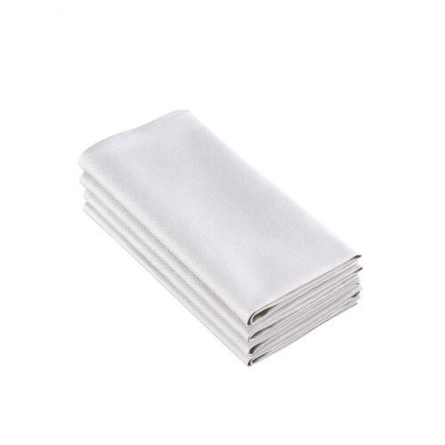 De Witte Lietaer servietten Sonora50 x 50 cm Baumwolle grau 4 Stück