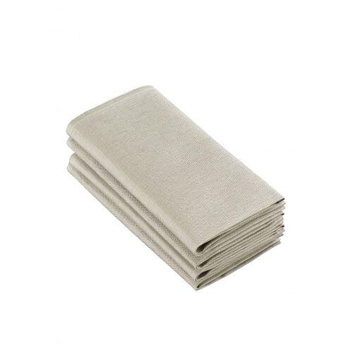 De Witte Lietaer servietten Sonora50 x 50 cm Baumwolle hellbraun 4 Stück
