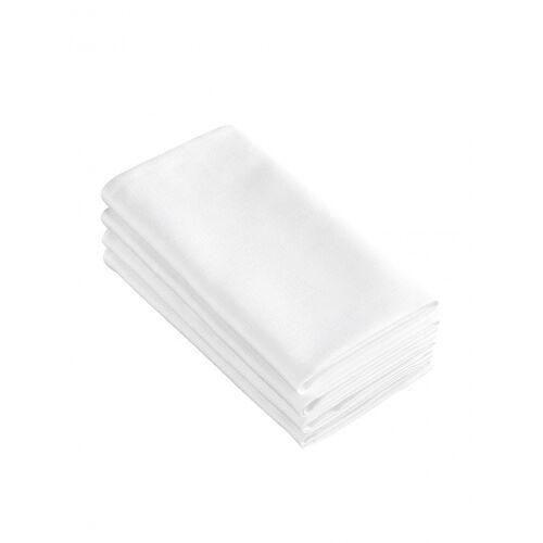 De Witte Lietaer servietten Sonora50 x 50 cm Baumwolle weiß 4 Stück