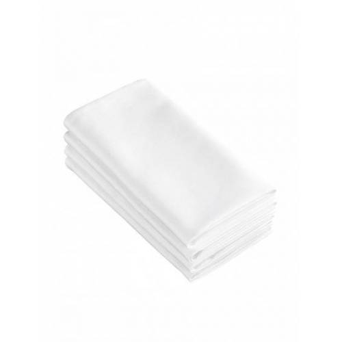 De Witte Lietaer servietten Sonora 50x50 cm Baumwolle weiß 4 Stück
