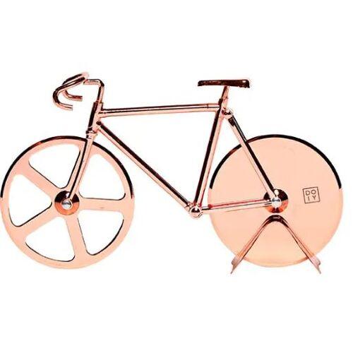 Doiy pizzaschneider Fahrrad 17,5 cm Edelstahl/Zink Kupfer