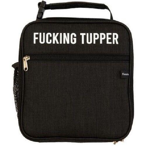 Fisura lunchbox Fucking Tupper 22,5 x 24,5 cm Polyester schwarz