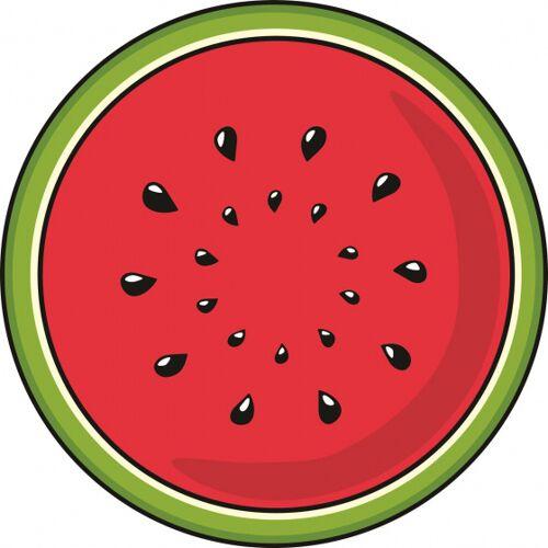 Giggle Beaver geschirrtuch Wassermelone 55 x 55 cm Polyester rot