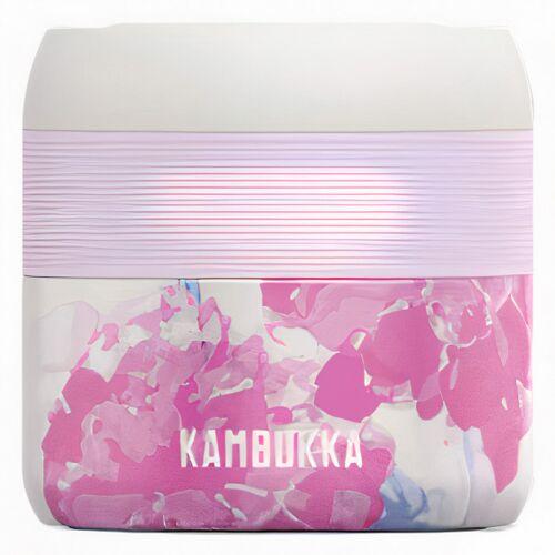 Kambukka lunchbox BoraPink Blossom 400 ml Edelstahl rosa/weiß