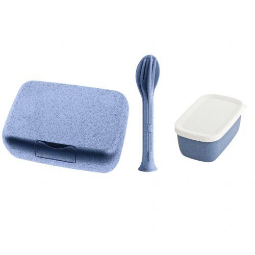 Koziol brotdose Candy 19 x 13,5 cm Thermoplast blau 3 teilig