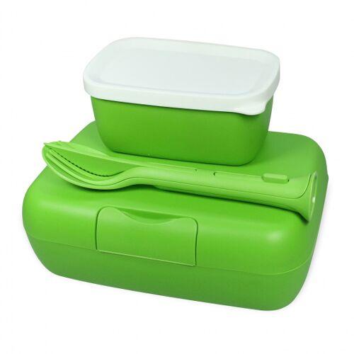 Koziol brotdose Candy 19 x 13,5 cm Thermoplast grün 3 teilig