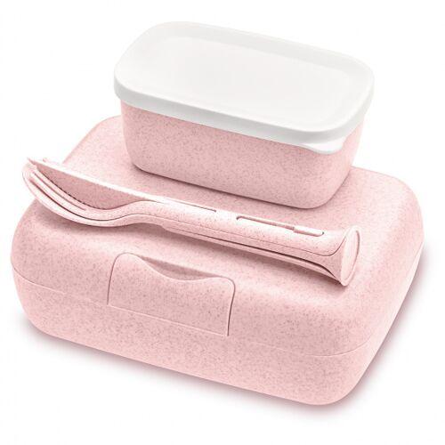 Koziol brotdose Candy 19 x 13,5 cm Thermoplast rosa 3 teilig