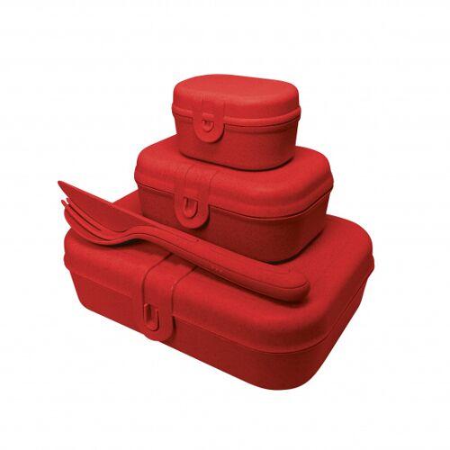 Koziol lunchbox Set Pascal X Mass 22 x 17 cm rot 5 teilig