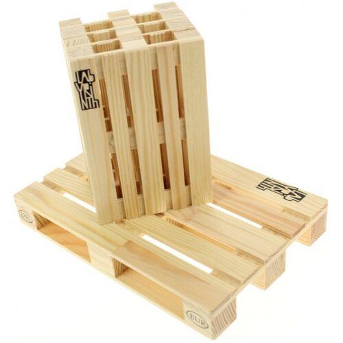 Labyrinth untersetzer Palettenholz natur 5 Stück