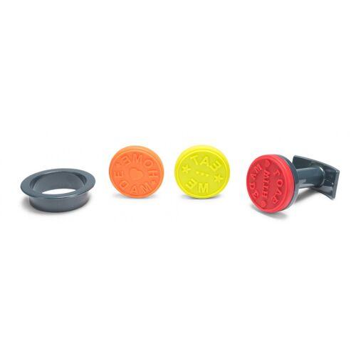 Patisse keks Stempel 5 cm Silikon rot/orange/gelb 5 teilig