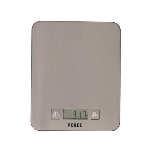 Perel küchenwaage digital 17,6 x 21,6 cm Edelstahl/ABS silber