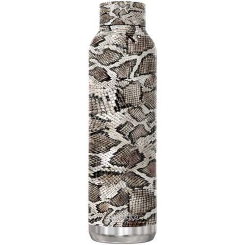 Quokka trinkflasche Snake 630 ml Edelstahl grau