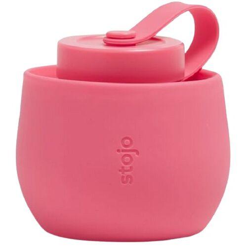 Stojo trinkflasche Peony 590 ml Silikon rosa