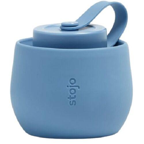 Stojo trinkflasche Steel 590 ml Silikon blau