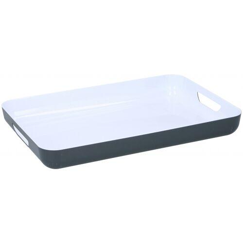 TOM tablett 42,5 x 29 cm Polystyrol weiß/grau
