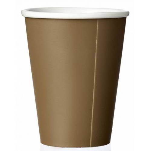 Viva kaffeebecher Andy 320 ml Porzellan braun