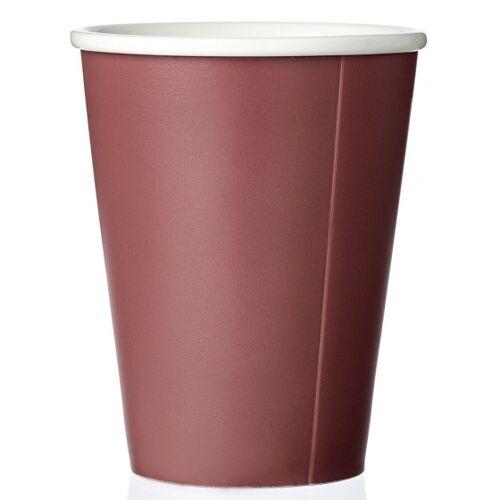 Viva kaffeebecher Andy 320 ml Porzellan rot