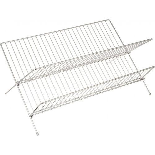 Wenko geschirrständer Duo 30 x 26 cm Stahl chrom