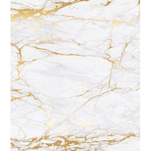 Wenko spritzschutz 70 x 60 cm Glas weiß/gold