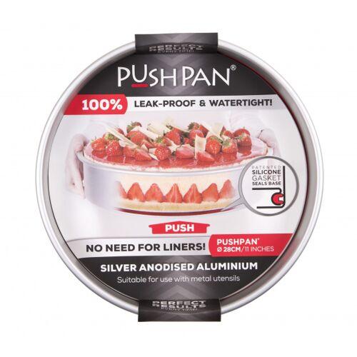Wham backform flach PushPan 30 cm Aluminium silber