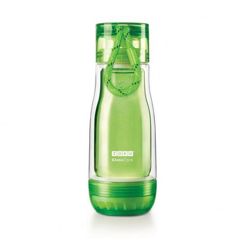 Zoku trinkflasche mit Kordel 325 ml Polypropylen grün