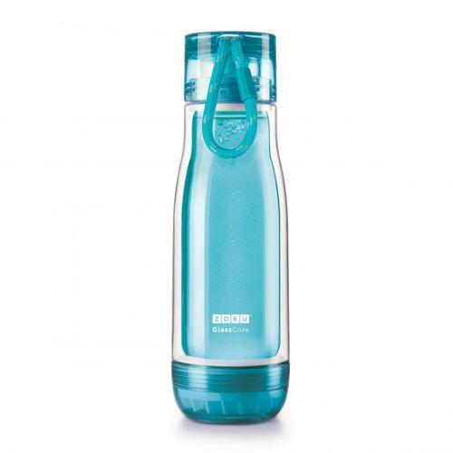 Zoku trinkflasche mit Kordel 475 ml Polypropylen blau