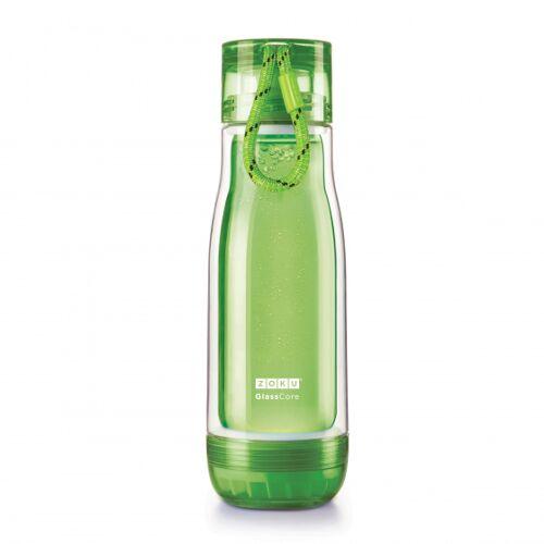 Zoku trinkflasche mit Kordel 475 ml Polypropylen grün