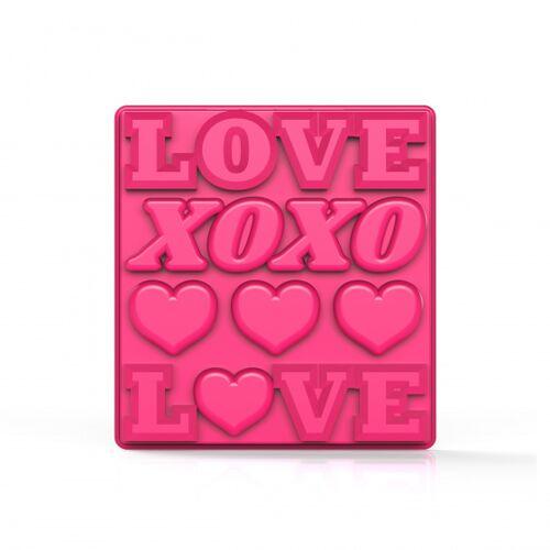 Zoku eiswürfelbehälter Love 13 x 14 cm Silikon rosa