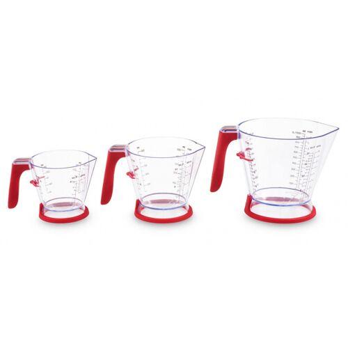 Zyliss 3 teiliges Messbecher Set aus Acrylglas/rot