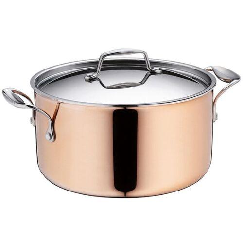 Kela Keuken kasserolle Stratum 4,8 Liter Kupfer silber/kupfer