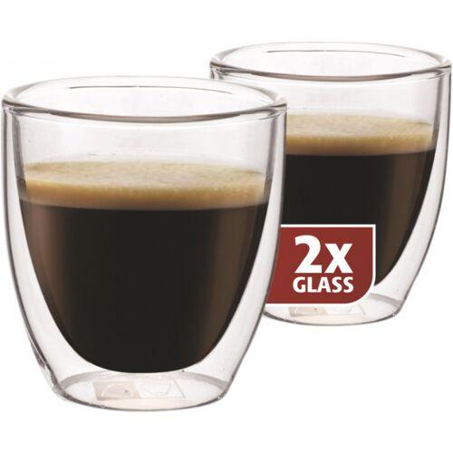 Maxxo espresso doppelwandiges 6,5 cm Glas 2 Stück