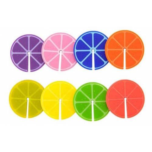 Balvi glasmarker Fruit Party 3,3 cm Silikon 8 Stk