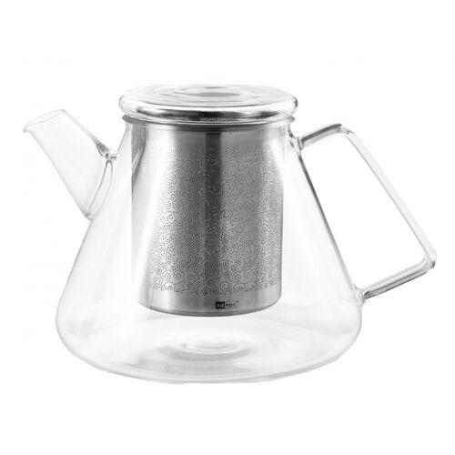 Adhoc teekanne Cone 1,5 Liter Glas/RVS silber
