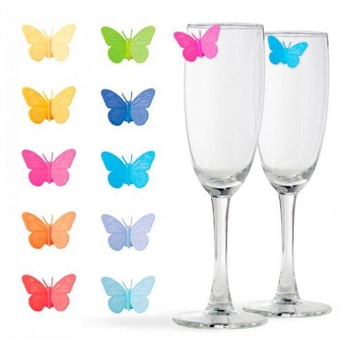 Balvi glasmarker Drink Wings 3,05 x 2,54 Silikon 10 Stück