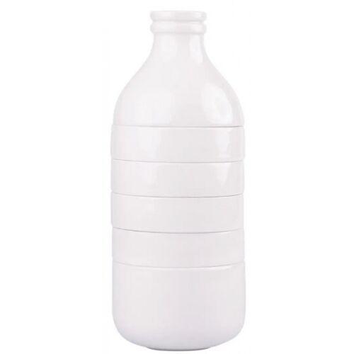 Doiy kaffeetassen mit Milchkännchen 13 cm Porzellan weiß