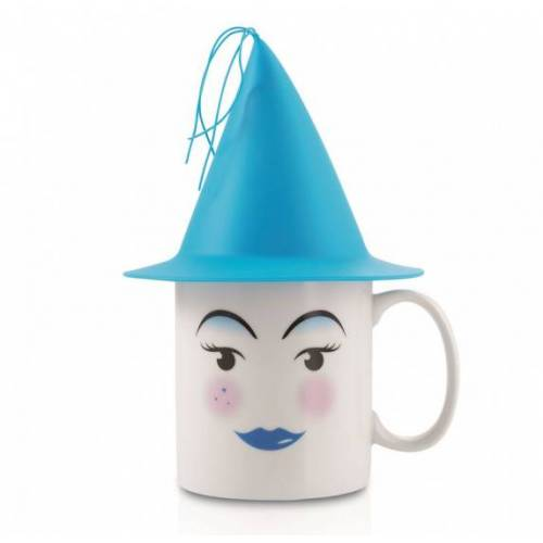 E-my E my becher Zauberer 400 ml 22 cm Porzellan weiß/blau 2 teilig