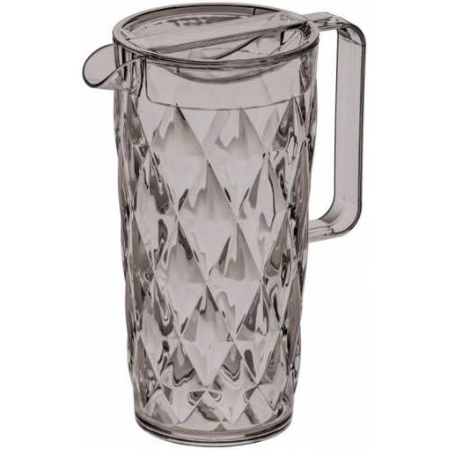 Koziol wasserkanne Crystal 1,6 Liter Glas transparent/grau