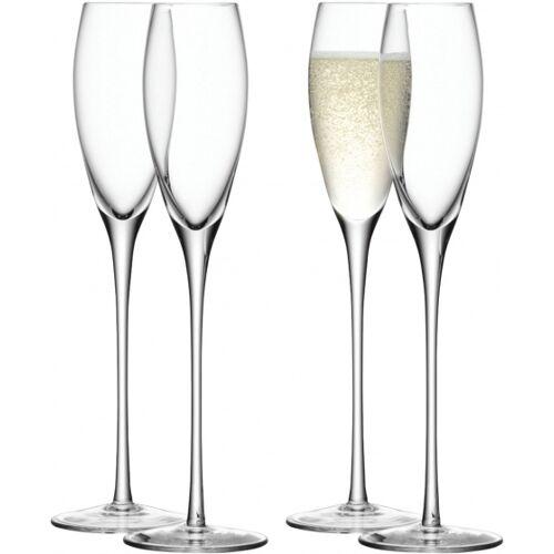 L.S.A. sektflöten Wine 200 ml Glas transparent 4 Stück
