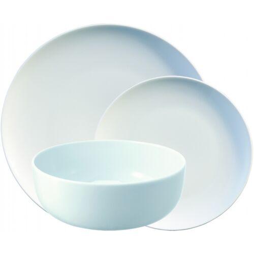 L.S.A. geschirrset Dine Porzellan weiß 12 teilig