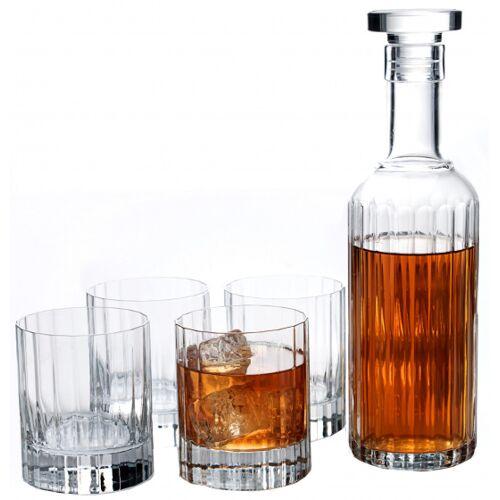 Luigi Bormioli whiskeyset Bach Karaffe und Glas 5 teilig
